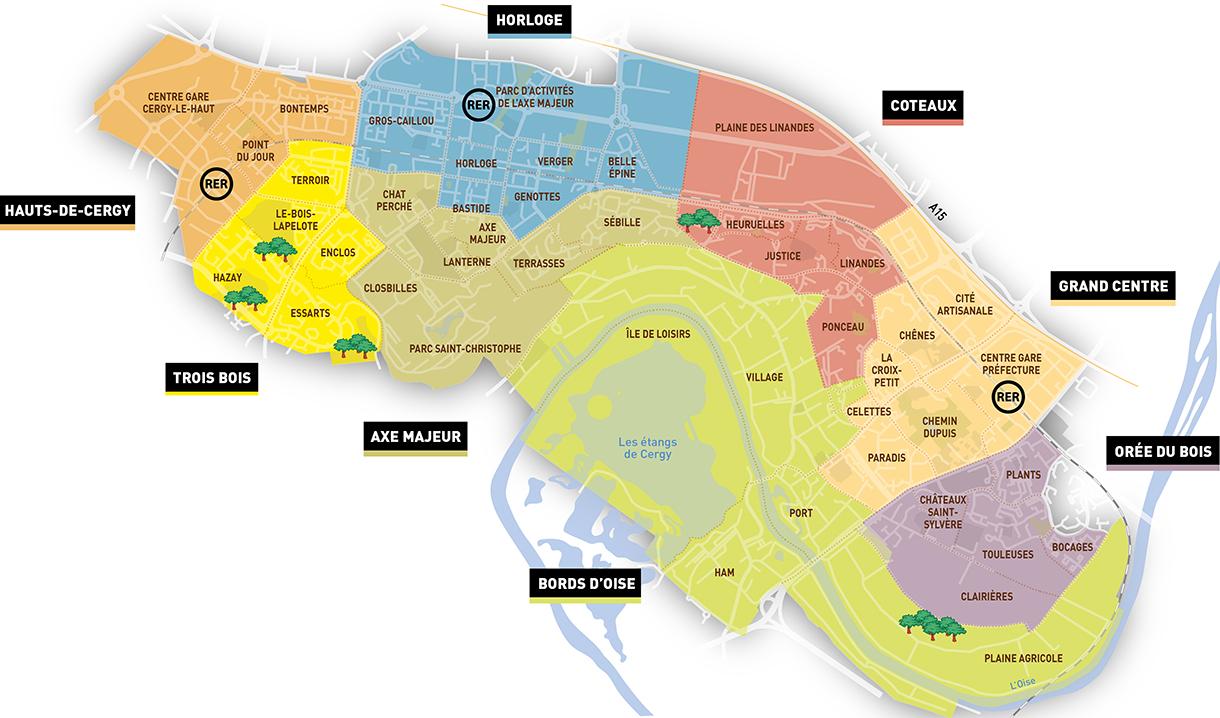 Cartographie de la ville ville de cergy for Piscine cergy prefecture